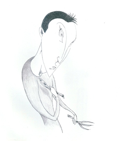 Man with Spoon and Fork