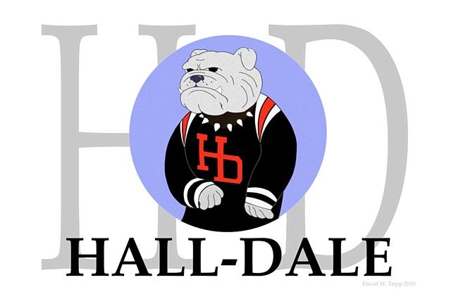 Hall-Dale Blue logo
