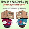 Zombie Head in a Box JAY 2015 edition Free Paper Craft Kit