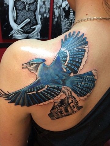 blue jay bird tattoo designs images galleries with a bite. Black Bedroom Furniture Sets. Home Design Ideas