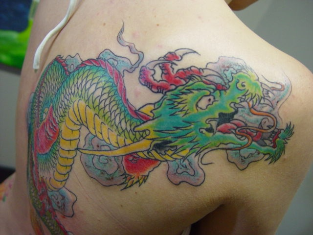 Close up of the dragon