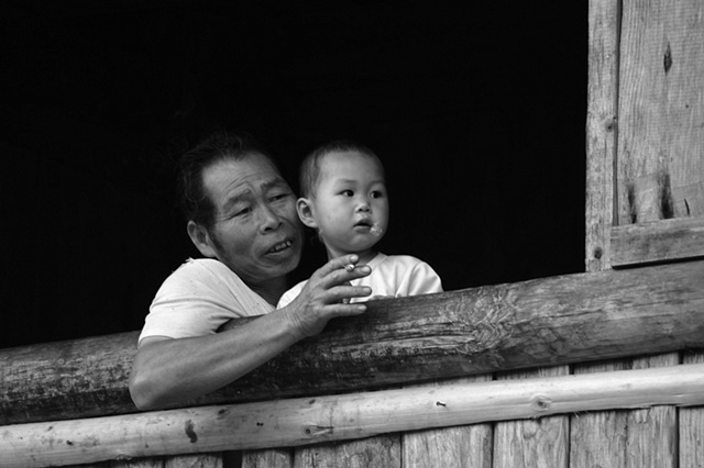 Man and child -Hunan