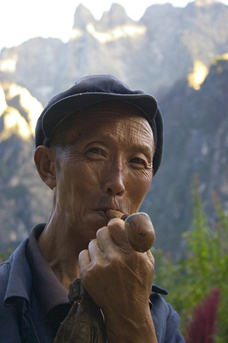 farmer with pipe, Guangzhou