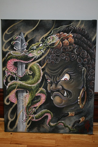 """Fudo"" Acrylic on streched canvas"