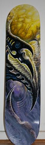 Acrylic on skateboard   $650