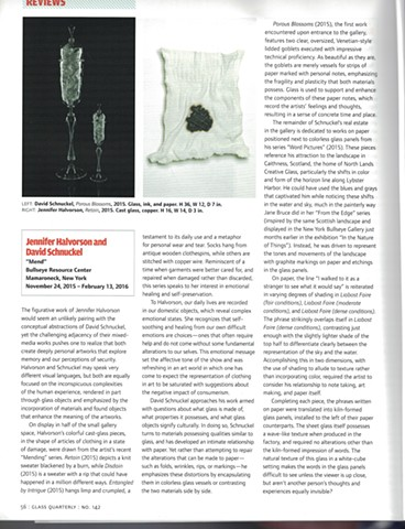 2016 - GLASS Quarterly, Mend Exhibition Review