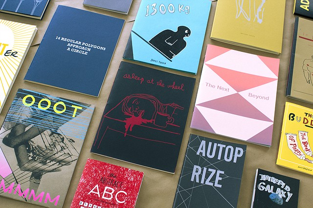 "Hand made silkscreen books available at Kayrock Screenprinting, The New Museum, Printed Matter and Desert Island  : :  ""OOOT MMMMM"" and ""AutoPrize"""