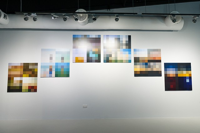 Installation view from Al Haraka Baraka: In Movement There is Blessing exhibition in Maraya Centre, Sharjah
