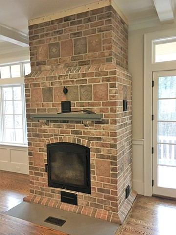 Special ordered hand moulded brick from Old Carolina Brick Company