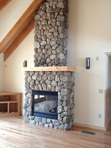 NH split veneer fireplace