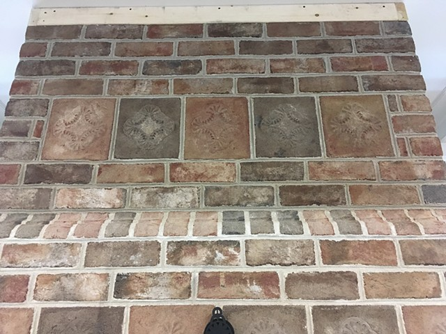 Special hand moulded brick tiles.