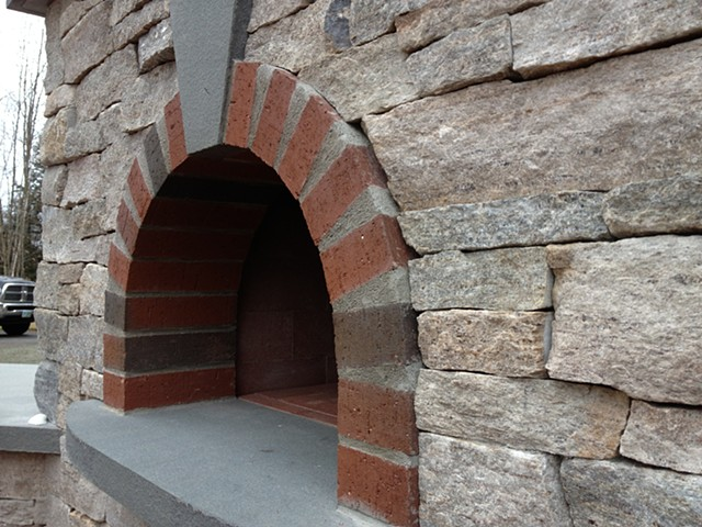 Brick arch - pizza oven