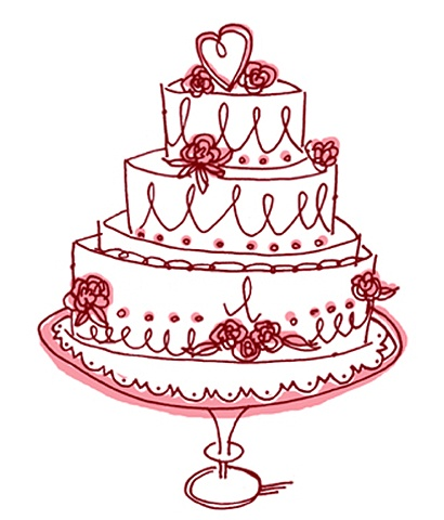 Squiggly Wedding cake