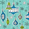 Vintage Xmas Ornaments Blue