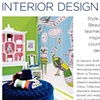 Feature on the mural I created for the  Interior Design show Style at Home magazine