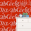 Alphabet wallpaper (Red)