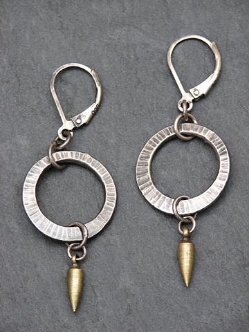 Sterling Mini Hoop Spike Earrings