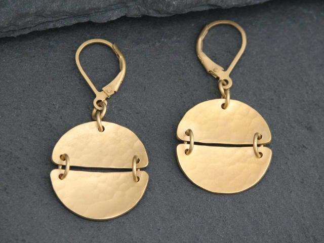 Vermeil Split Circle Earrings