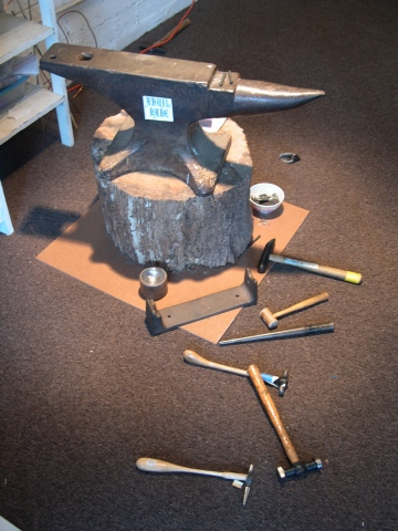 Anvil and Assorted Hammers