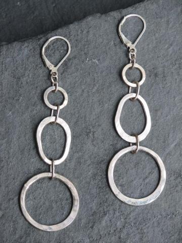 Egg and Circle Earrings