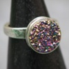 Sterling and Lavender Druzy Ring