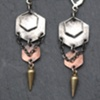 Sterling and Copper Hex Spike Earrings