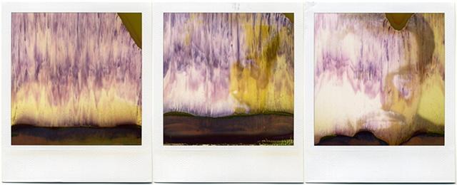 polaroid 779 triptych half developed portrait selfportrait