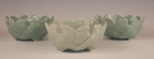 Three Green Bowls
