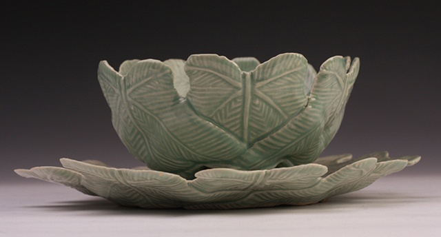Green Bowl and Plate