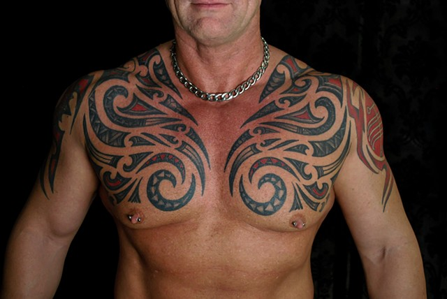maori inspired tattoo by chris lowe