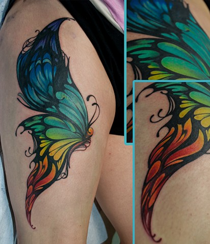 butterfly tattoo chris lowe naked art tattoos