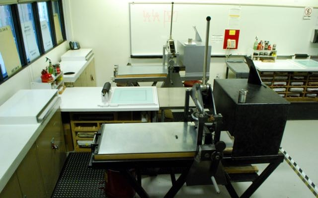 LITHOGRAPHY WORKSHOP stone lithography Chicago printmaking litho