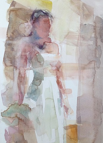 standing figure painting in watercolor