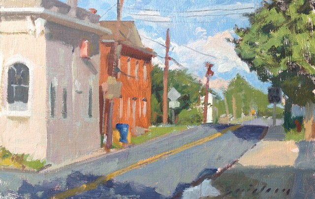 Poolesville, Maryland Town Hall Fisher Ave plein air
