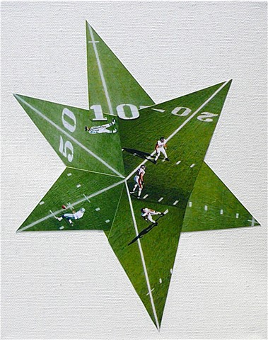 """Football Star AKA Life Goes On"" - Photo Collage by Vashon Artist John Schuh."