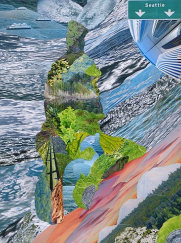 """Vashon Island #1"" - Photo Collage by Vashon artist John Schuh."