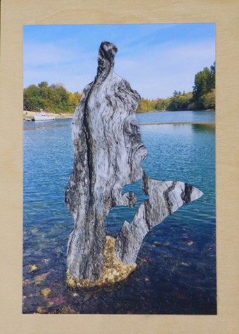 """The Rock"" - Photo Collage by Vashon Artist John Schuh"