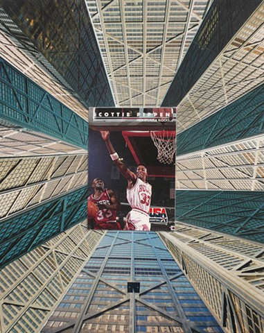 """Scottie Pippen"" - Collage by Vashon artist John Schuh."