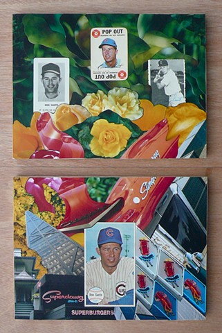 """Ron Santo"" - Collage by Vashon artist John Schuh."