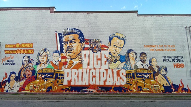 "Mural For HBO Series ""Vice Principals"""