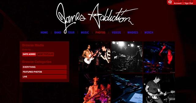 Jane's Addiction Web Site