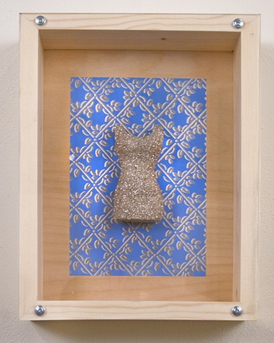 Beaded Dress on Blue Bkgrd