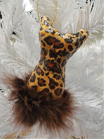 Fashion Leopard Dress Ornament