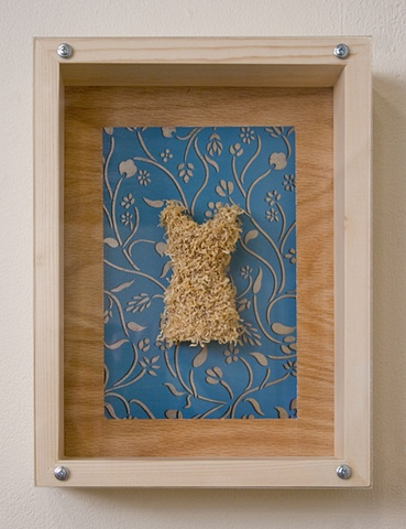 Sawdust Dress on Blue