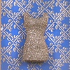 Beaded Dress on Blue Bkgrd