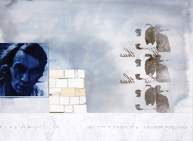 Ken Nurenberg, contemporary, drawing, collage, conceptual, cyanotype, xavier grall