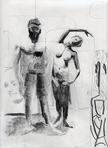 contemporary figurative drawing