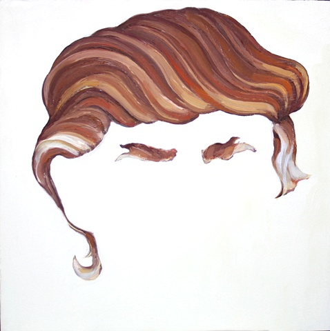 Donald's Hair (after Christina Ramberg)