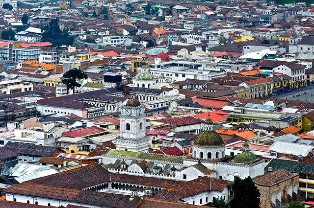 Old churches and monasteries of Quito, Ecuador