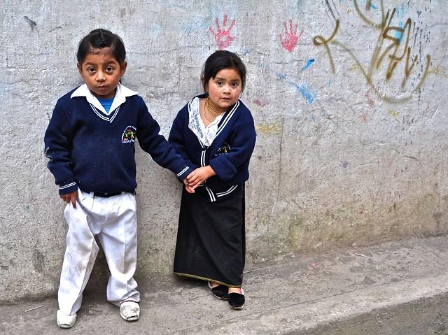 children, play, Otavalo, Ecuador